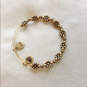 Alex and Ani gold flower beaded bracelet NEW